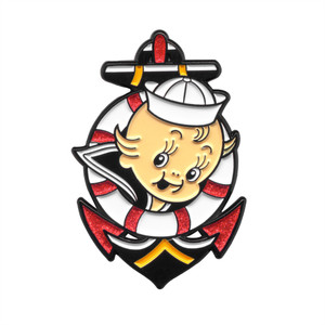 Enamel Buoy Baby Pin