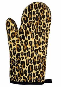 Printed Leopard Oven Mitt