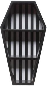 Striped Coffin Shelf Black And White