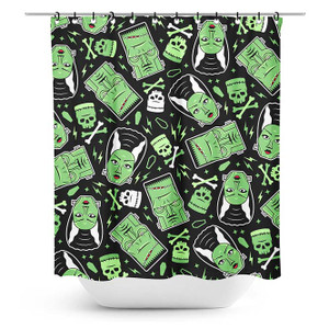 Printed The Monsters Shower Curtain