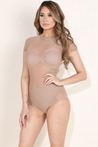 Nude Crewneck Shortsleeve Bodysuit