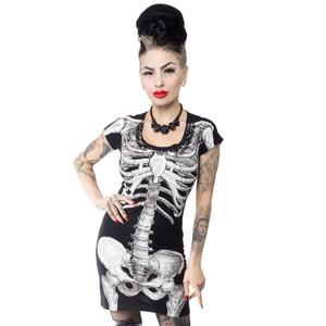 Black Skeleton Tunic Dress