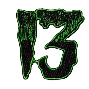 Unlucky 13 Green Embroidered Patch
