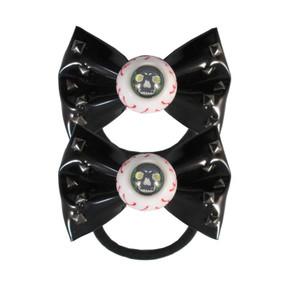Black Skull Stud Eyeball Hair Bow Bands