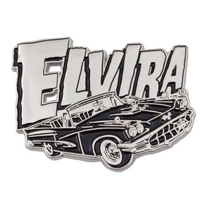Metallic Elvira Macabre Enamel Pin