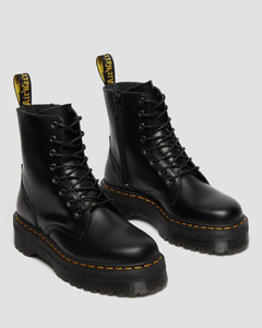 Dr. Martens Jadon Black Smooth Boots