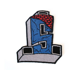Dogtown Suicidal Cross Logo Embroidered Patch