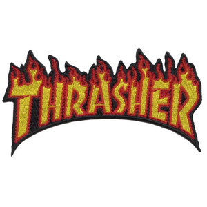 Thrasher Flame Embroidered Patch
