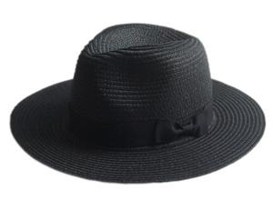 Black Straw Summer Womens Hat