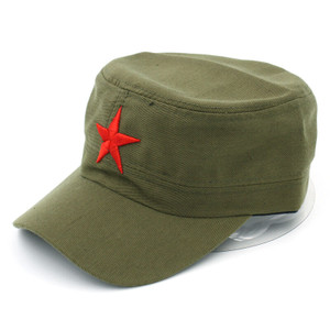 Olive Military with Red Star Cap