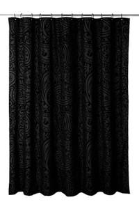 Black Woodstock Shower Curtain