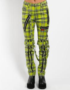 Lime Tartan Plaid Bondage Pants