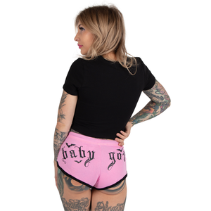 Pink Baby Goth Cheeke Shorts