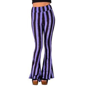 Stripped Purple & Black Bell Pants