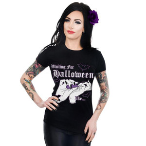 Printed Waiting For Halloween Top