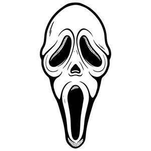 Scream Ghost Face Shaped Beach Towel