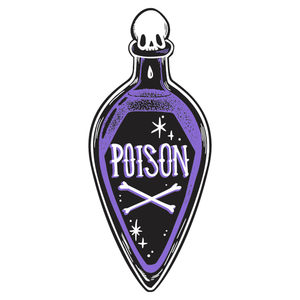 Poison Bottle Shaped Beach Towel