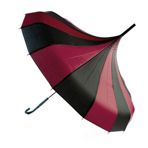 Black and Purple Pagoda Umbrella