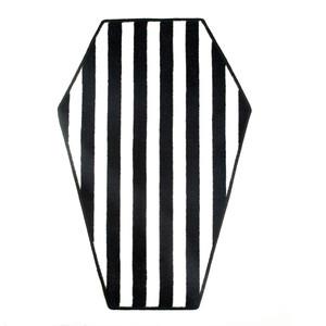 Black & White Coffin Rug
