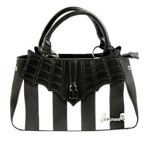 Black & White Striped Locked Out Purse