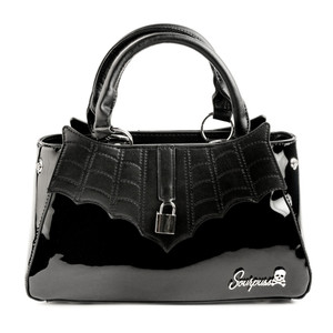 Black Glossy Locked Out Purse