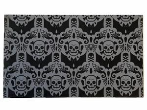 Skelly Spooky Damask Doormat