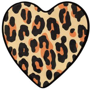 Soft-Touch Leopard Heart Bath Mat