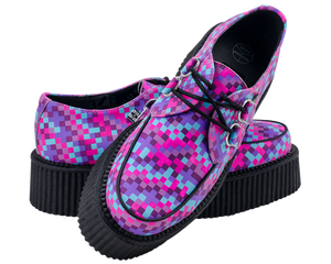 T.U.K. Shoes - A8462 Pixel Color Print Mondo Sole Creepers