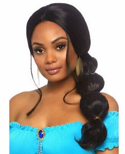 "Black 26"" Desert Princess Long Wig"