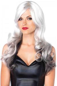 """Grey & Black 24"""" Allure Long Wavy Wig"""