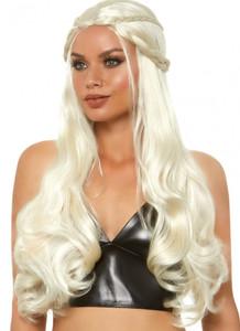"Blonde 32"" Braided Long Wavy Dragon Queen Wig"
