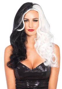 """Black & White 25"""" Cruella DeVil Wig"""