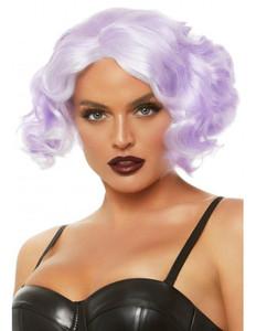 "Lilac 12"" Pastel Curly Bob Wig"