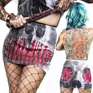 Kreepsville 666 - Skull Shot White Mini Skirt