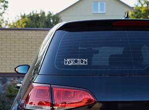 "Mastodon - Logo 5x1.5"" Vinyl Cut Sticker"