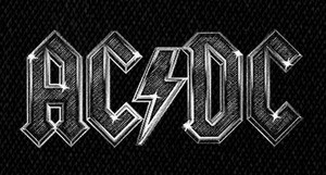 "AC/DC Logo 6x3.5"" Printed Patch"