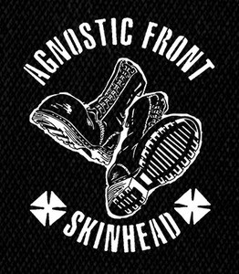 """Agnostic Front - Skinhead 5x6"""" Printed Patch"""