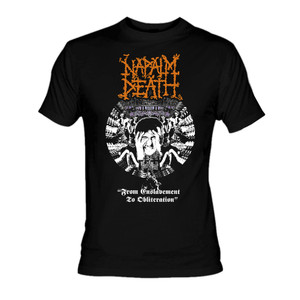 Napalm Death From Enslavement To Oblitheration T-Shirt