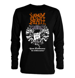 Napalm Death From Enslavement To Oblitheration Long Sleeve T-Shirt