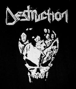 "Destruction - Skull 6x7"" Printed Patch"
