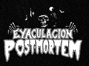 "Eyaculacion Post Mortem - Logo 4.5x3"" Printed Patch"