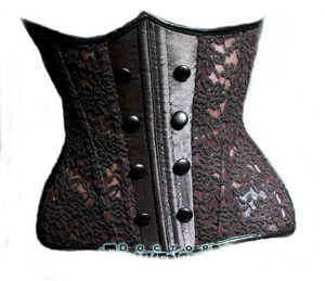 Black Lace Underbust Corset