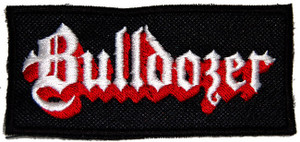 """Bulldozer Logo 4.5x2.5"""" Embroidered Patch"""