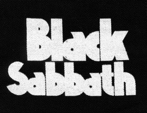 "Black Sabbath Logo 5x4"" Printed Patch"
