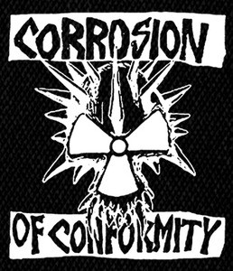 """Corrosion of Conformity  Classic logo 5x5"""" Printed Patch"""