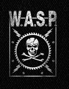 "W.A.S.P. Skull 5x4"" Printed Patch"