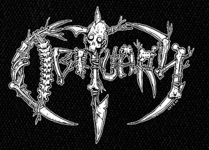 "Obituary Bones 5x5"" Printed Patch"