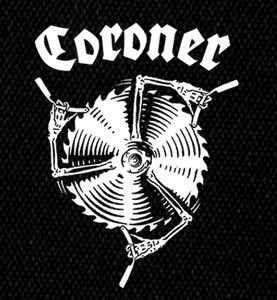 "Coroner Saw n Blades 4x5"" Printed Patch"