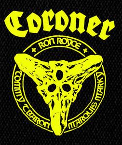 "Coroner - Members 4x5"" Printed Patch"