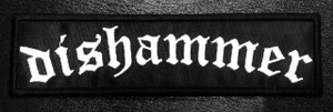 """Dishammer Logo 6x1"""" Embroidered Patch"""